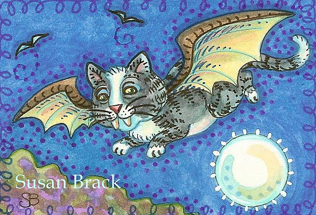 Art: BAT CAT KITTY by Artist Susan Brack