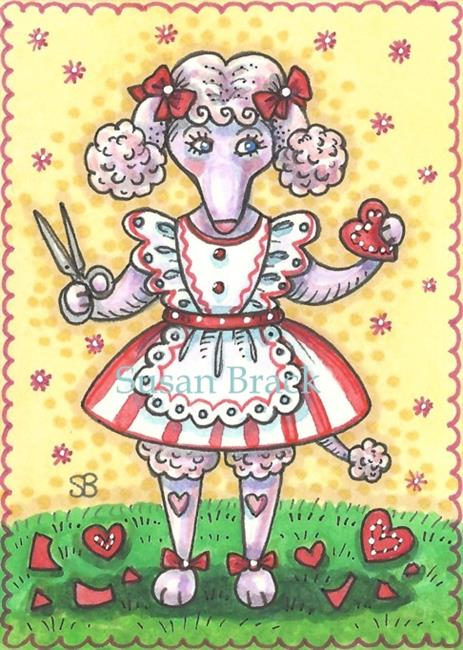 Art: OODLES OF POODLE VALENTINES by Artist Susan Brack