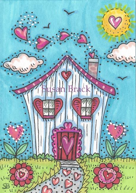 Art: HOUSE OF HEARTS by Artist Susan Brack
