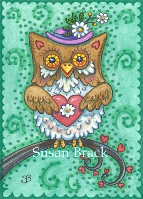 Art: WHOOO WILL BE MY VALENTINE? #2 by Artist Susan Brack