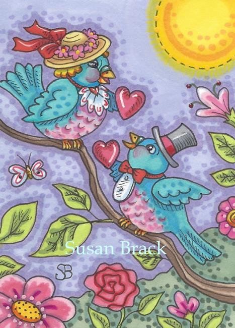 Art: BLUEBIRD SWEETHEARTS by Artist Susan Brack