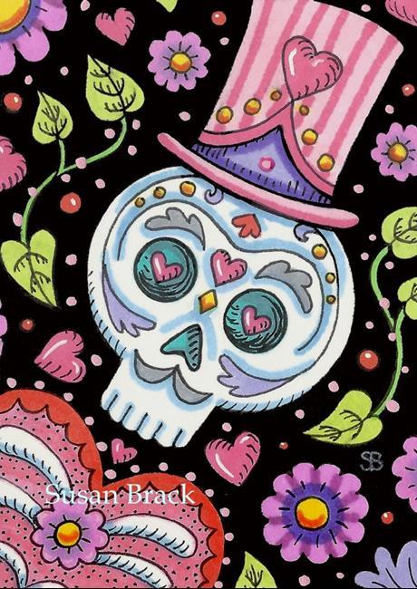 Art: DAY OF THE DEAD HEART'S DESIRE by Artist Susan Brack