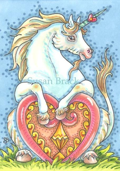 Art: UNICORN OF YOUR HEART'S DESIRE by Artist Susan Brack