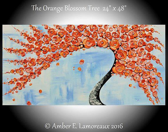 Art: The Orange Blossom Tree (sold) by Artist Amber Elizabeth Lamoreaux