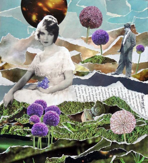 Art: Allium Love by Artist Vicky Helms