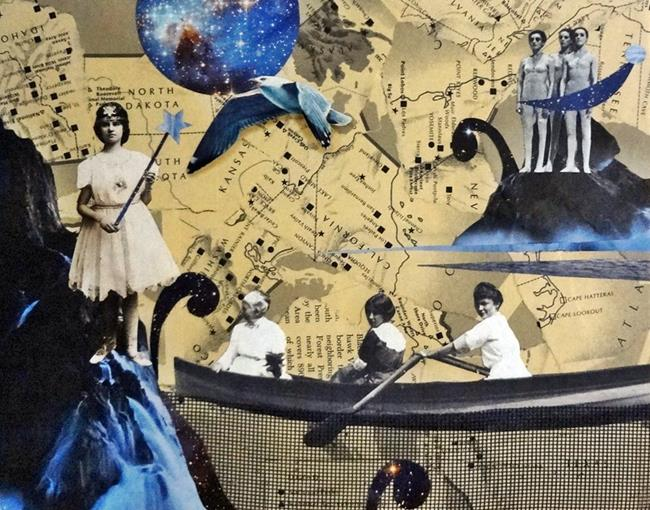 Art: Girls With Dreams Become Women With Vision. by Artist Vicky Helms
