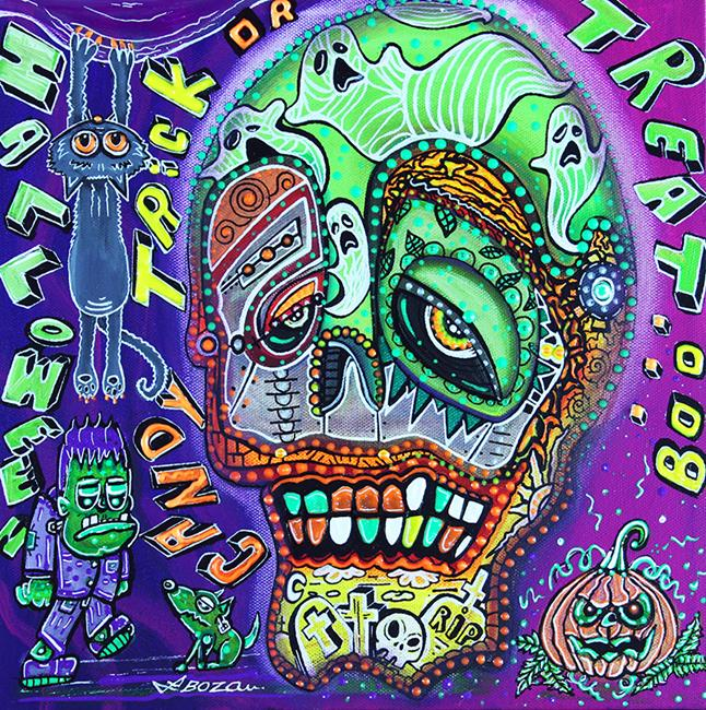 Art: Treat or Trick by Artist Laura Barbosa