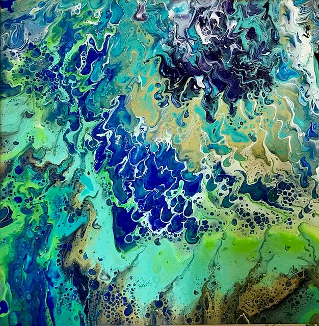 Art: Fluid Acrylic Pour by Artist Ulrike 'Ricky' Martin