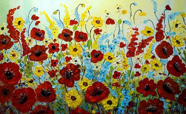 Art: Boho Floral by Artist LUIZA VIZOLI
