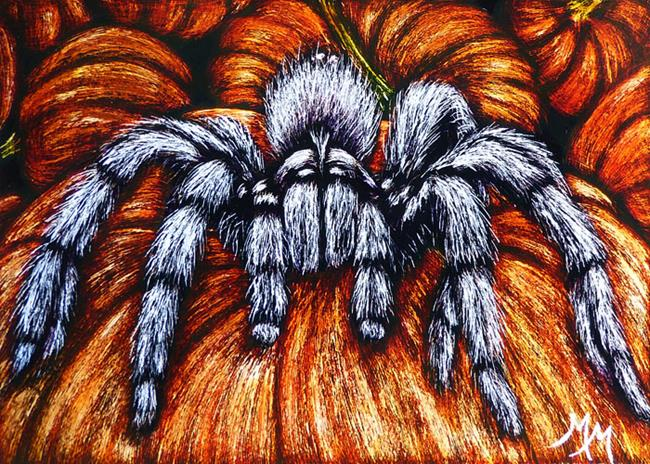Art: Pumpkin Patch Nightmare  (SOLD) by Artist Monique Morin Matson