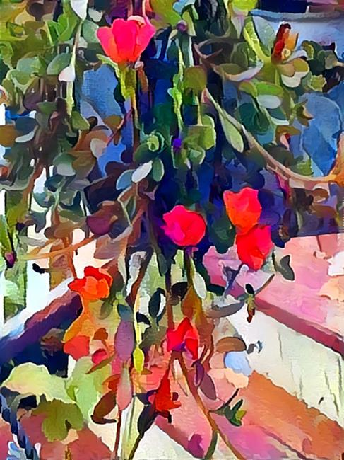 Art: Hanging Basket by Artist Alma Lee