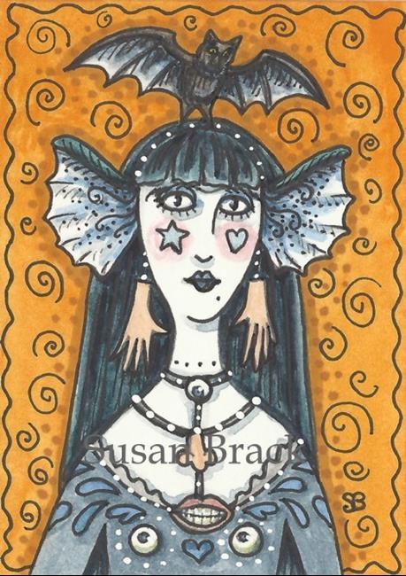 Art: SPOOKY GOTH by Artist Susan Brack