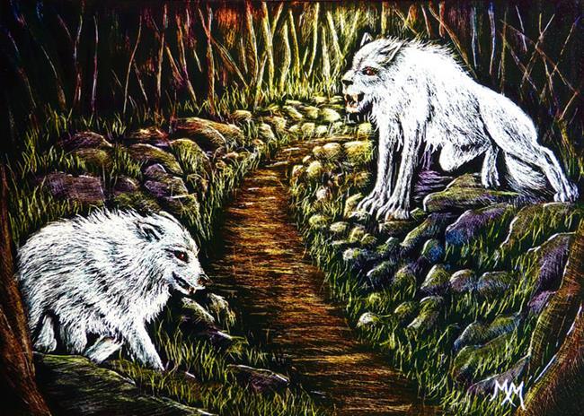 Art: Forest Creatures  (SOLD) by Artist Monique Morin Matson