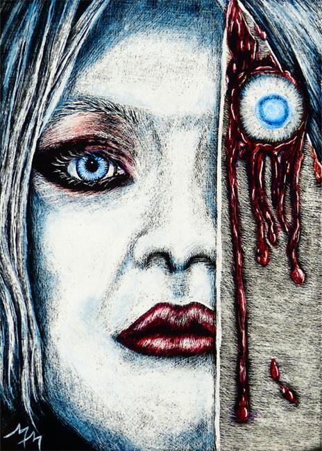 Art: Eye Collector by Artist Monique Morin Matson