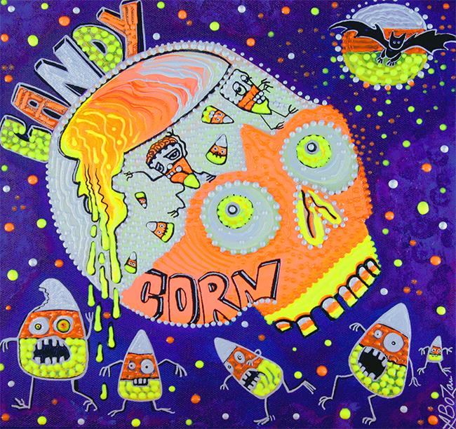 Art: Haunted Candy Corn by Artist Laura Barbosa