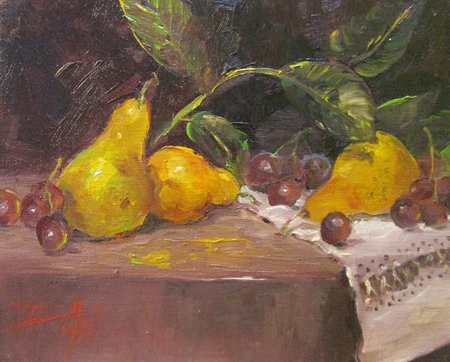Art: Still Life with Pears by Artist Delilah Smith