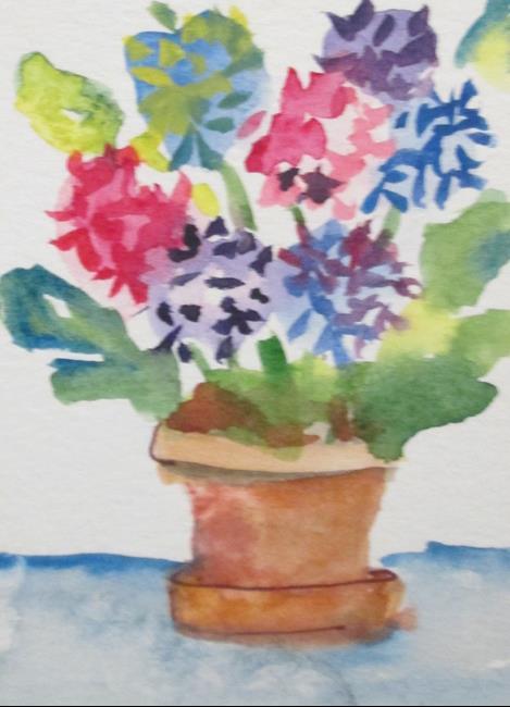 Art: Hydrangeas by Artist Delilah Smith