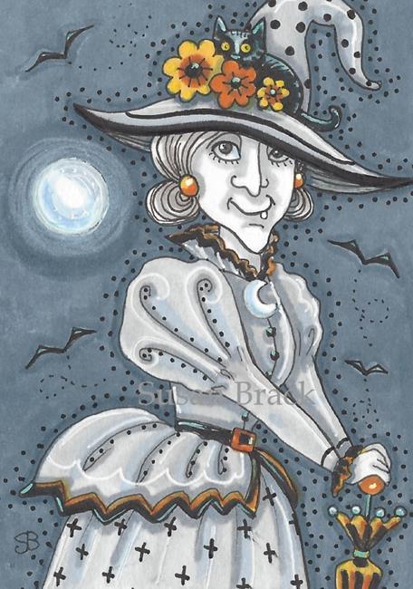 Art: A HALLOW'S EVE STROLL by Artist Susan Brack