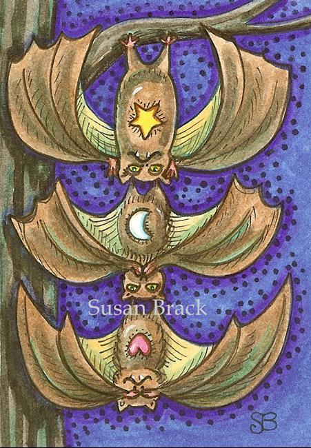 Art: BATS SEE NO EVIL by Artist Susan Brack