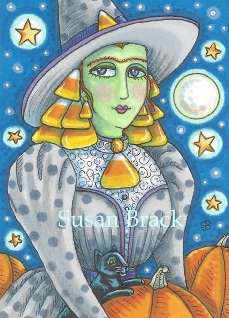 Art: CANDY CORN MAVEN by Artist Susan Brack