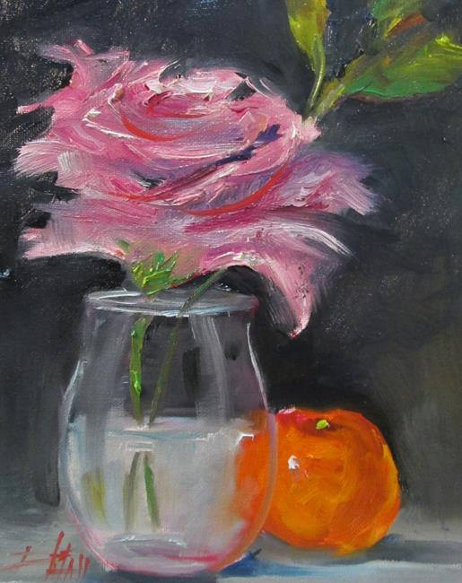Art: Rose and Orange by Artist Delilah Smith