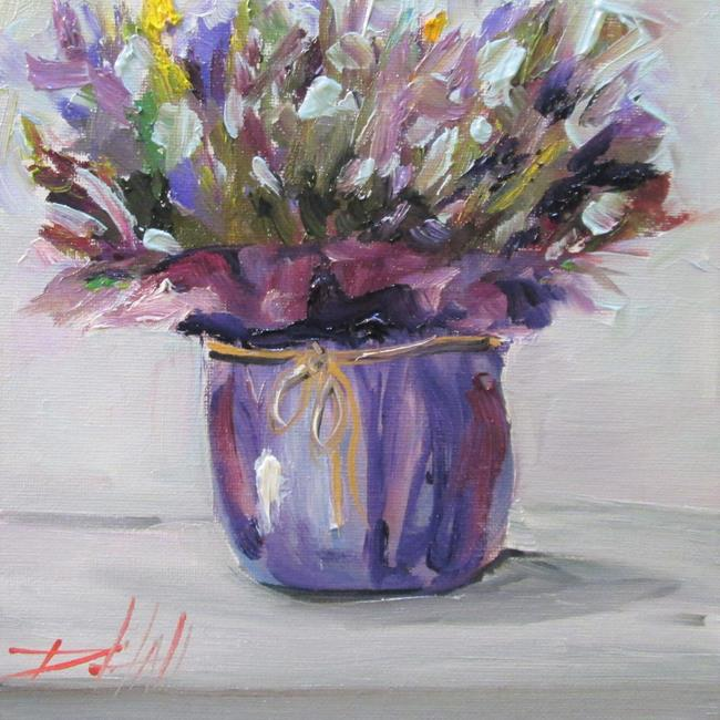 Art: Lavender Still Life by Artist Delilah Smith