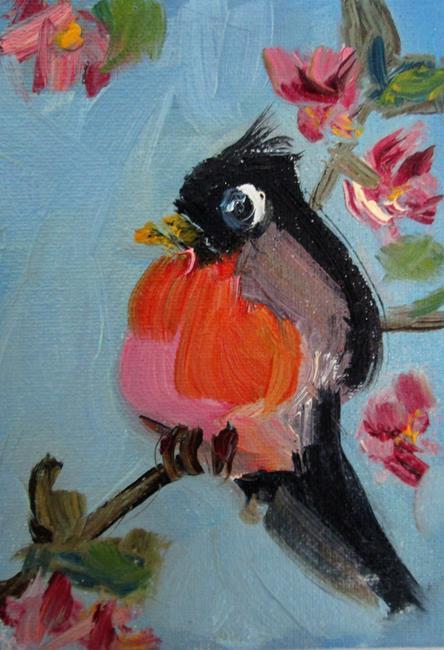 Art: Spring Robin by Artist Delilah Smith