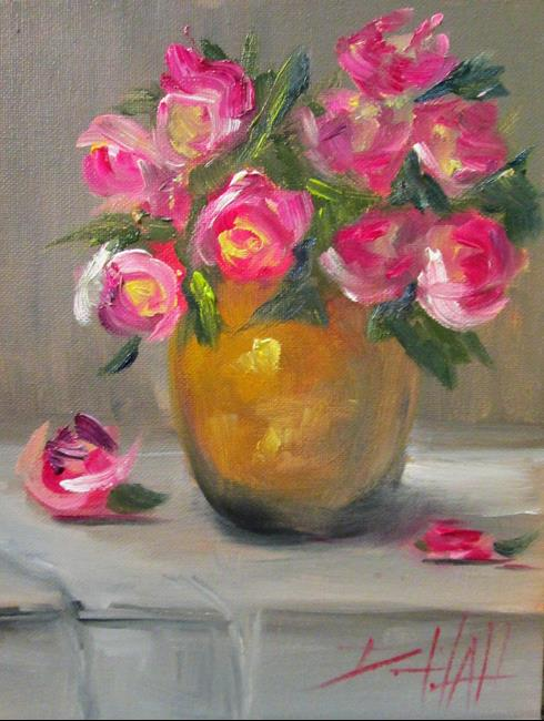 Art: Rose Still Life by Artist Delilah Smith