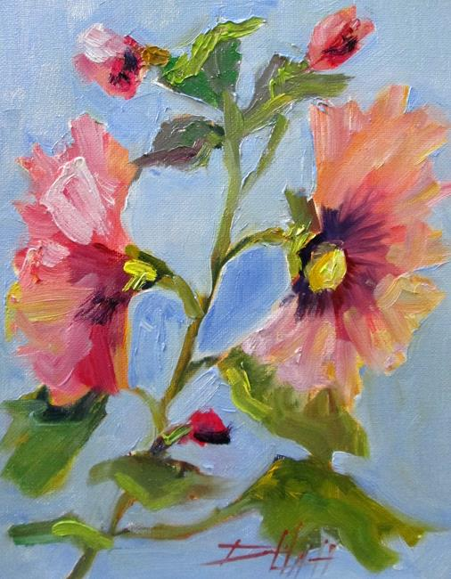 Art: Hollyhock by Artist Delilah Smith