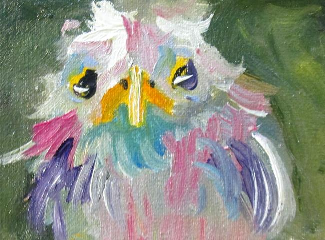 Art: Fluffy Bird Aceo by Artist Delilah Smith