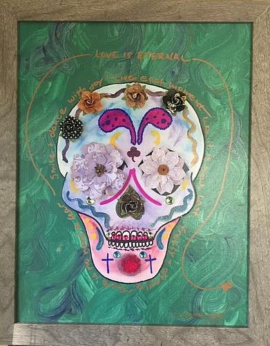 Art: Sugar Skull by Artist Laura Gemme Triplett