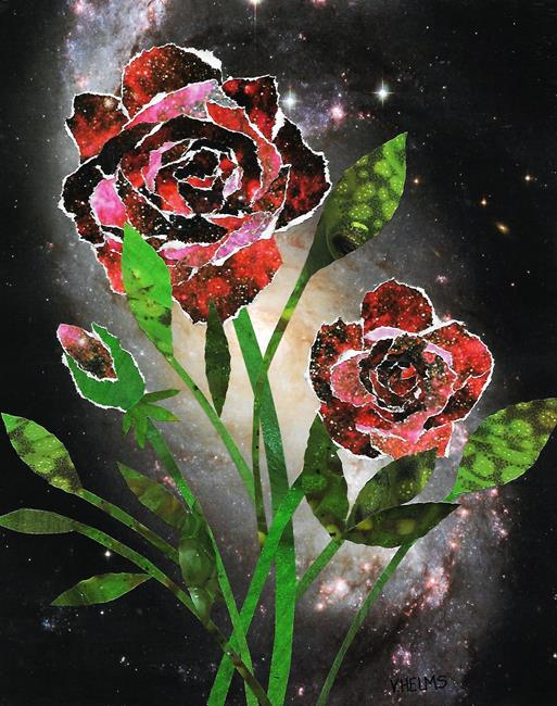 Art: Space Roses by Artist Vicky Helms