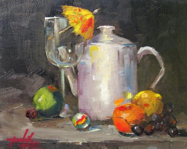 Art: Parasol and Tea Pot by Artist Delilah Smith