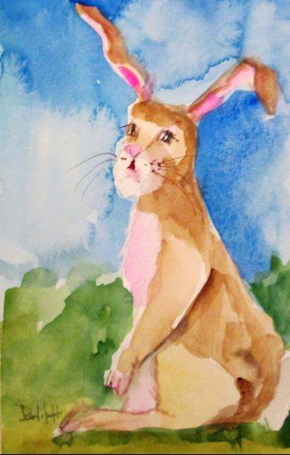 Art: Brown Rabbit by Artist Delilah Smith