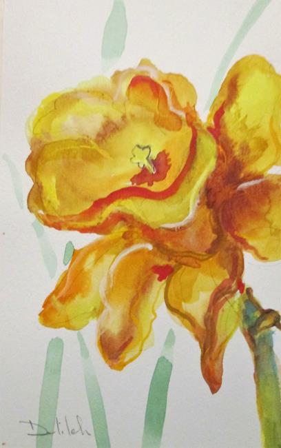 Art: Daffodil No. 2 by Artist Delilah Smith