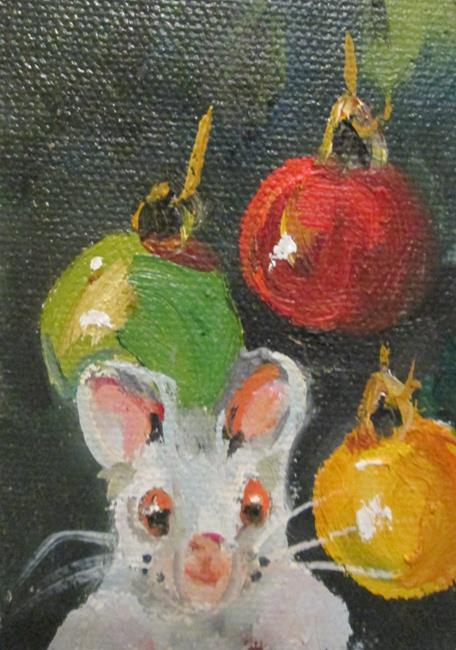 Art: Christmas Mouse No. 2 by Artist Delilah Smith