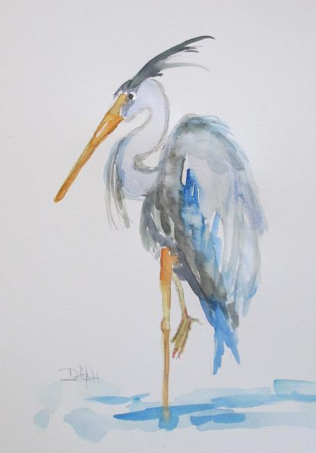 Art: Blue Heron No. 5 by Artist Delilah Smith