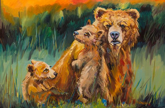 Art: Close Knit Family by Artist Diane M Whitehead