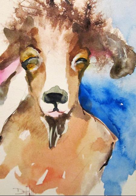 Art: Goat by Artist Delilah Smith