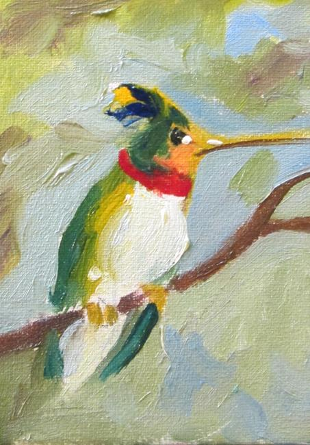 Art: Hummingbird aceo by Artist Delilah Smith