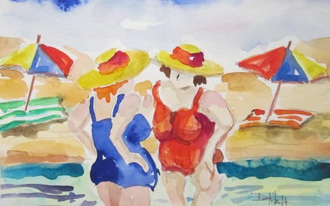 Art: Beach Talk-sold by Artist Delilah Smith