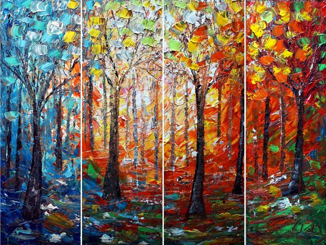 Art: SEASONS by Artist LUIZA VIZOLI