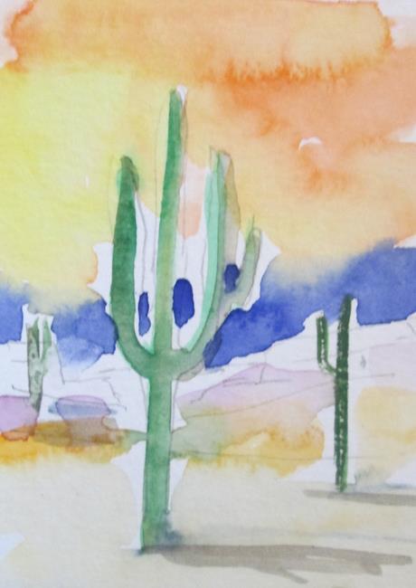 Art: Saguaro Cactus by Artist Delilah Smith