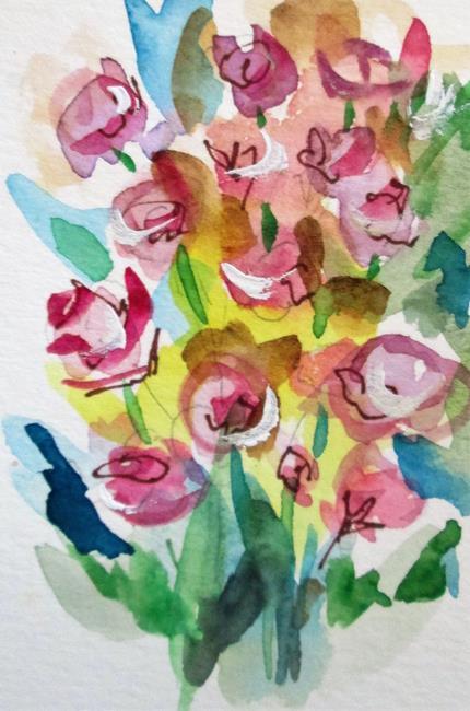Art: Rose Bush by Artist Delilah Smith