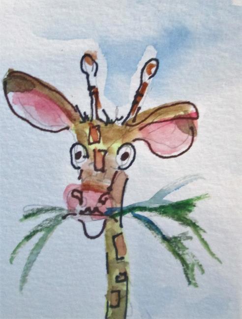 Art: Giraffe No. 2 by Artist Delilah Smith