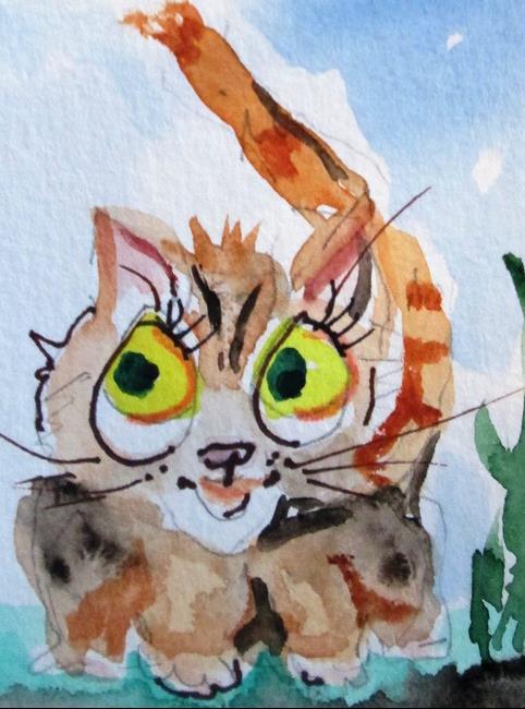 Art: Little Kitten by Artist Delilah Smith