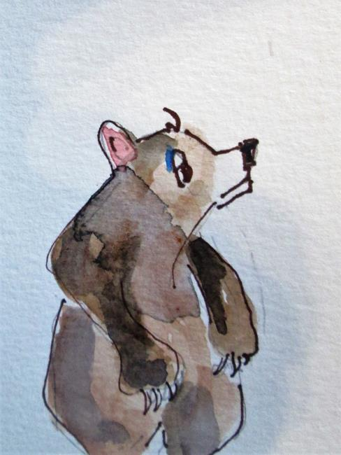 Art: Brown Bear Aceo by Artist Delilah Smith