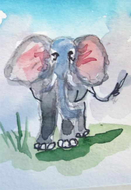 Art: Elephant by Artist Delilah Smith