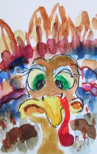 Art: Cross Eyed Turkey by Artist Delilah Smith