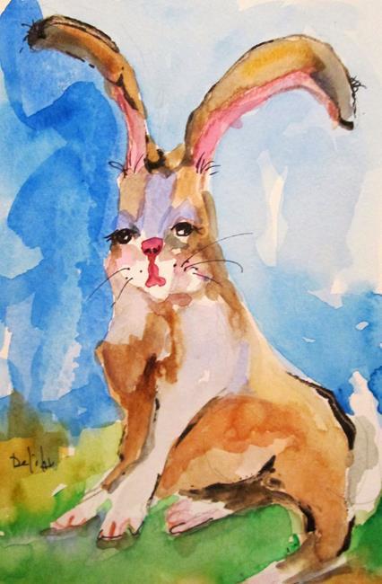 Art: Sleepy Rabbit by Artist Delilah Smith